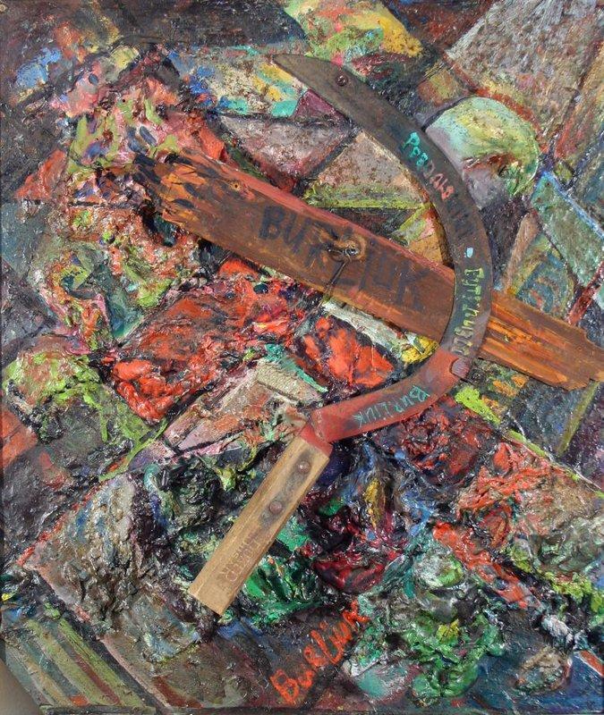 Composition with sickle - David Burliuk