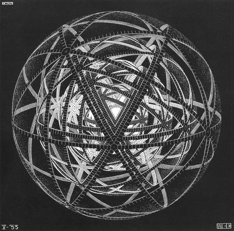 Concentric Rinds - M.C. Escher
