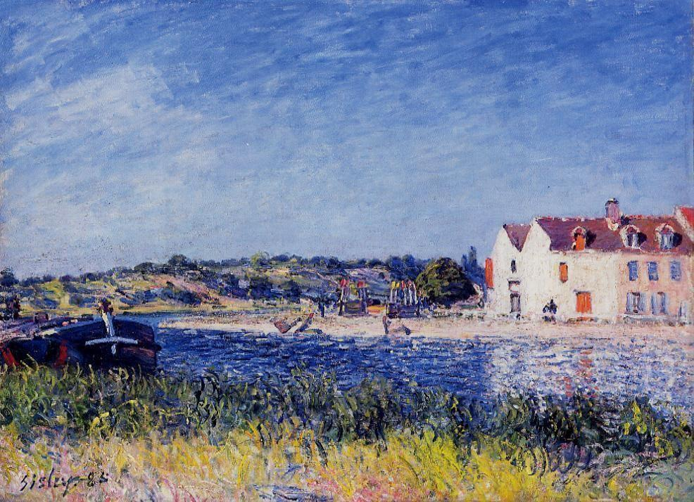 Confluence of the Seine and the Loing - Alfred Sisley