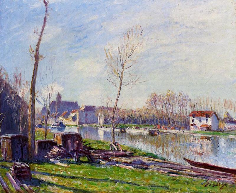 Construction Site at Matrat, Moret sur Loing - Alfred Sisley