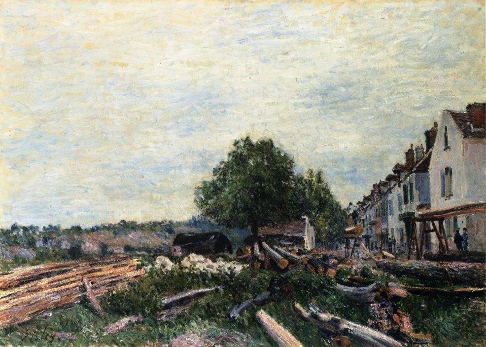 Construction Site at Saint Mammes - Alfred Sisley