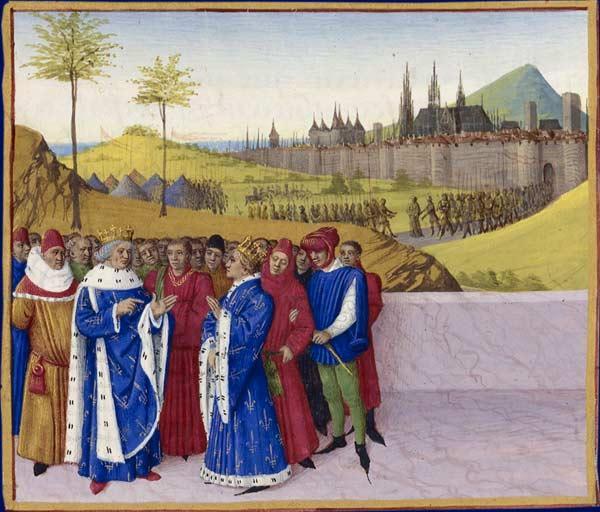 Conversation Between St. Gontran and St. Childebert II - Jean Fouquet