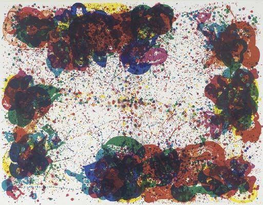 Coral Lyre Nine - Sam Francis