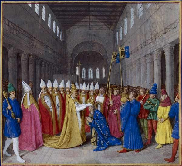 Coronation of Charlemagne - Jean Fouquet
