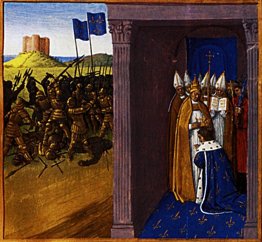 Coronation of Pepin the Short in Laon - Jean Fouquet