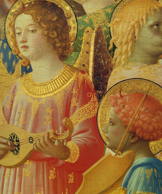 Coronation of the Virgin (detail) - Fra Angelico