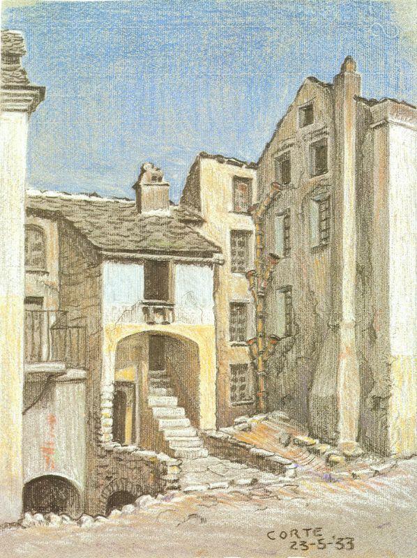 Corte, Corsica - M.C. Escher