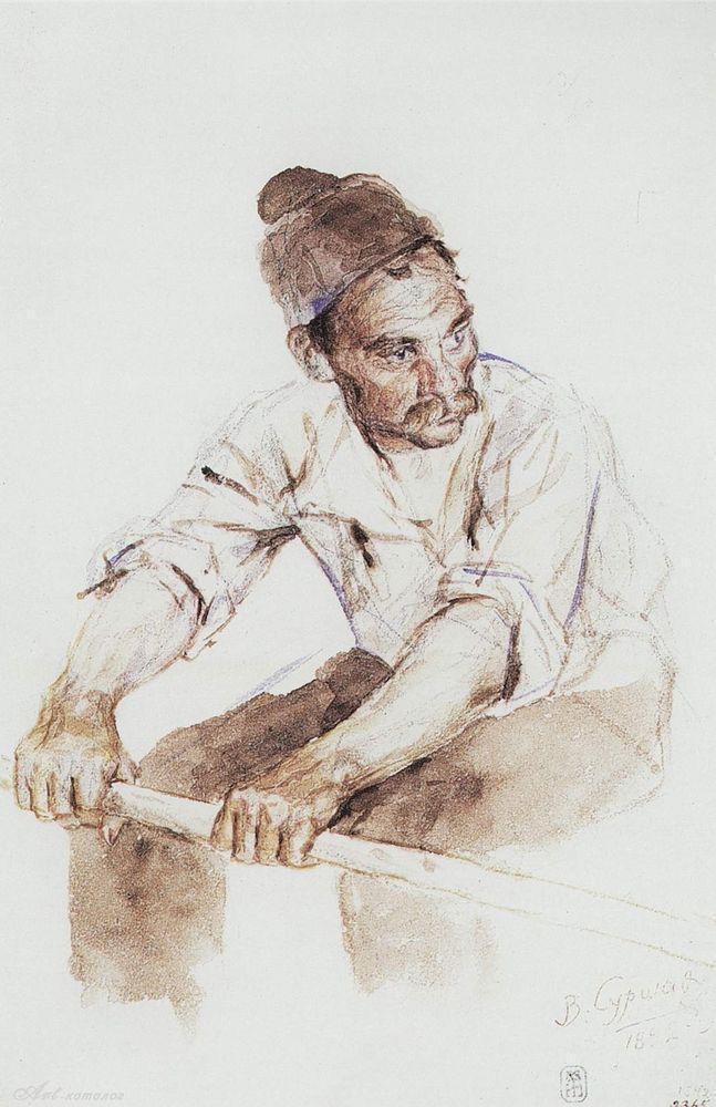 Cossack-rower - Vasily Surikov