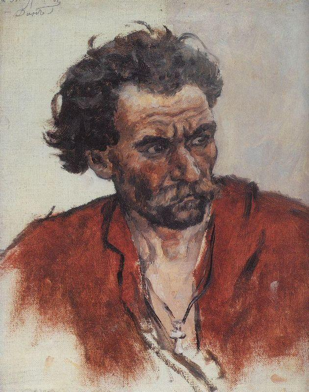 Cossack with red shirt - Vasily Surikov