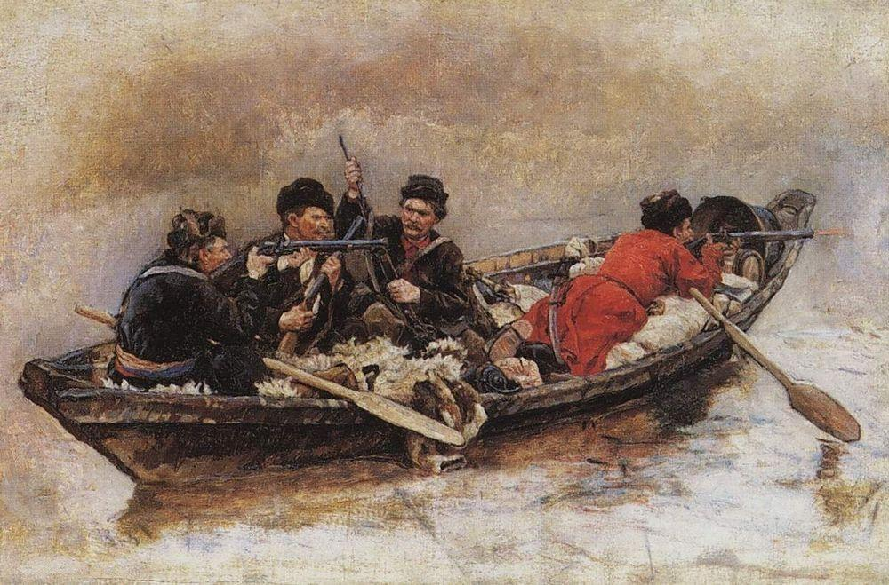 Cossacks in boat (Study to