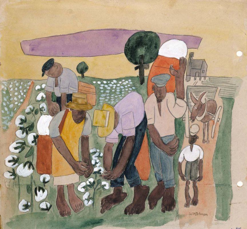 Cotton Pickers - William H. Johnson