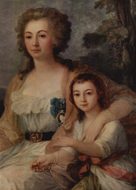 Countess Anna Protassowa with niece - Angelica Kauffman