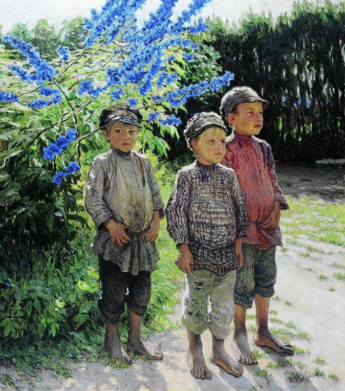 Country Boys  - Nikolay Bogdanov-Belsky