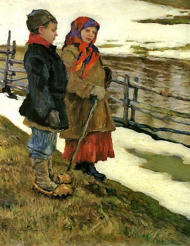 Country Children - Nikolay Bogdanov-Belsky