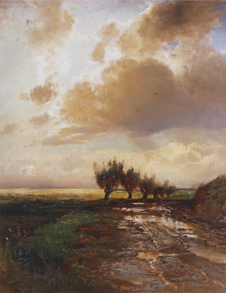 Country road - Aleksey Savrasov