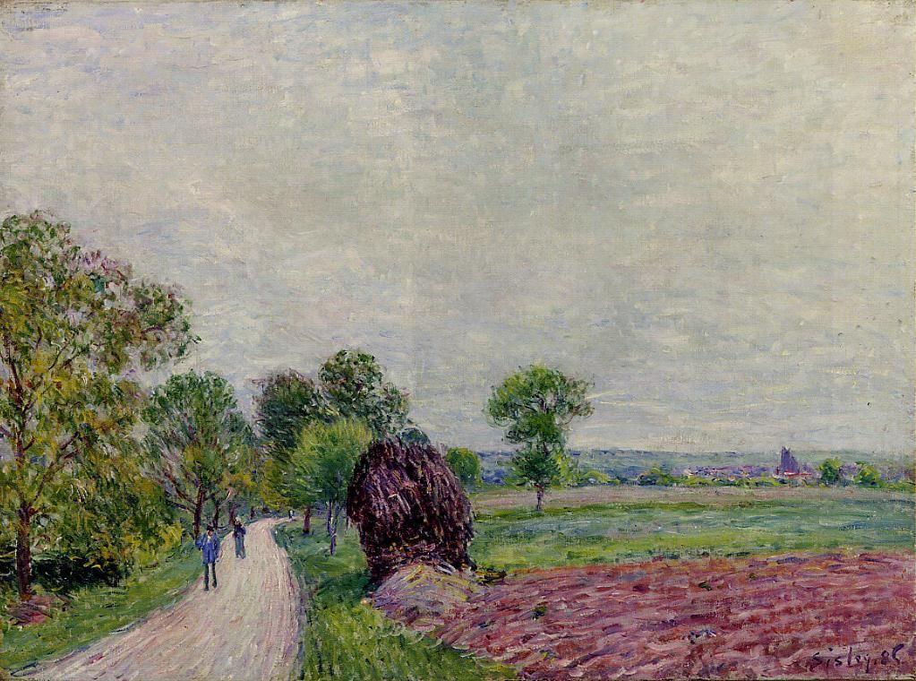Countryside near Moret - Alfred Sisley