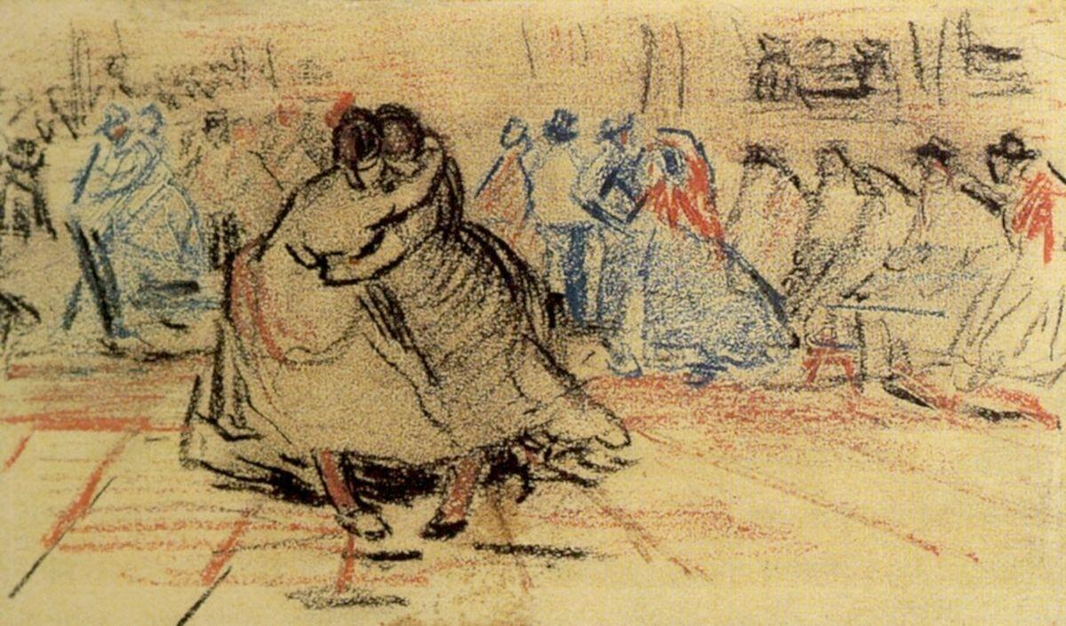 Couple Dancing - Vincent van Gogh
