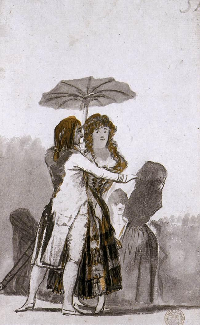 Couple with Parasol on the Paseo - Francisco Goya