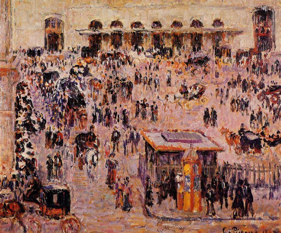 Cour du Havre (Gare St. Lazare) - Camille Pissarro