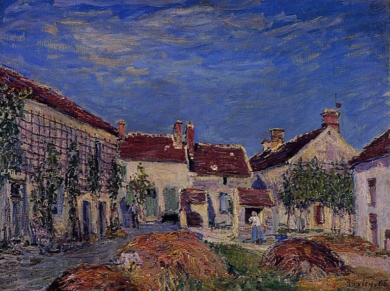 Courtyard at Les Sablons - Alfred Sisley