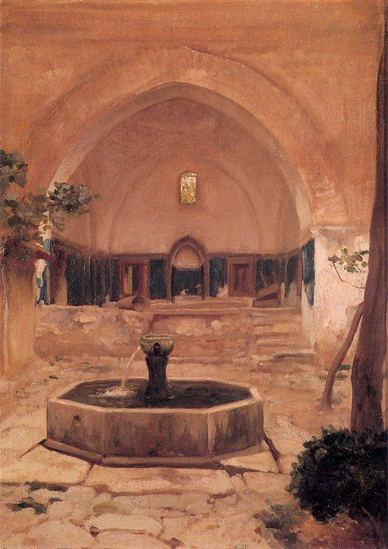 Courtyard of a Mosque at Broussa - Frederic Leighton