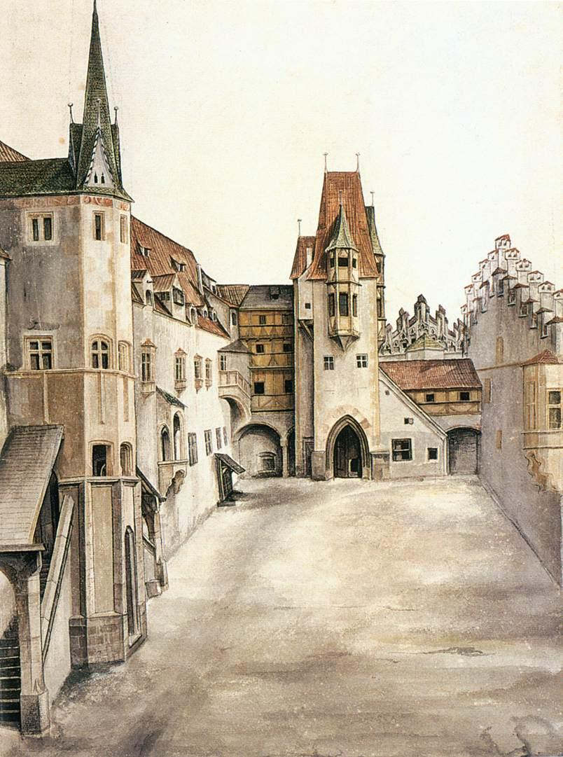 Courtyard of the Former Castle in Innsbruck without Clouds - Albrecht Durer