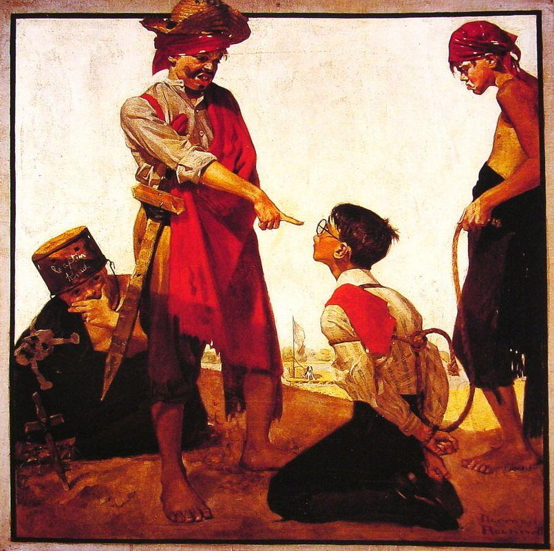 Cousin Reginald Plays Pirate - Norman Rockwell