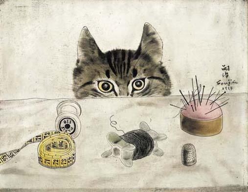 Couturier Cat - Tsuguharu Foujita