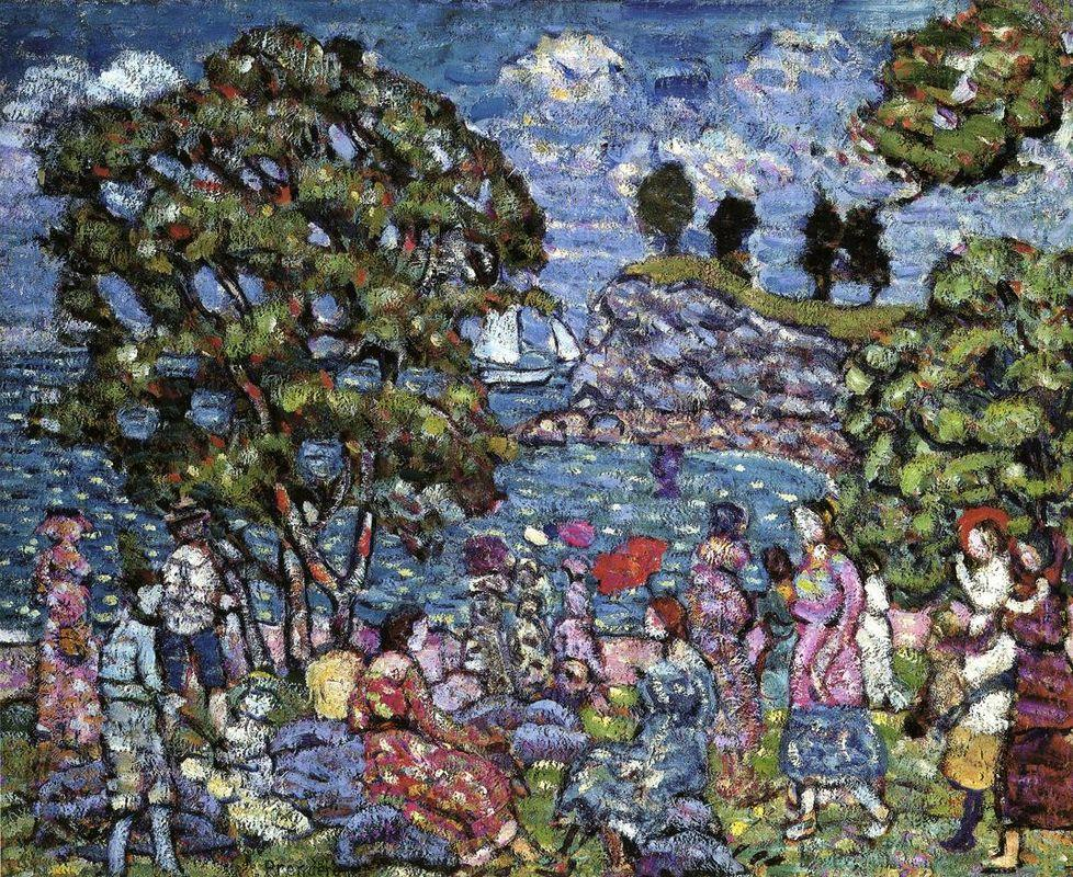 Cove with Figures - Maurice Prendergast