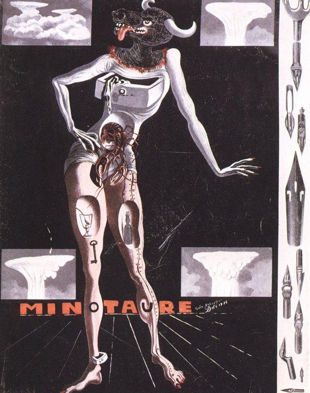 Cover of 'Minotaure' Magazine - Salvador Dali