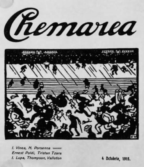 Cover of the Romanian Symbolist and avant garde magazine Chemarea (The Calling) - Felix Vallotton