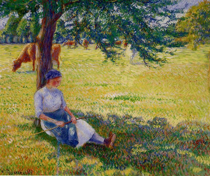 Cowgirl, Eragny - Camille Pissarro