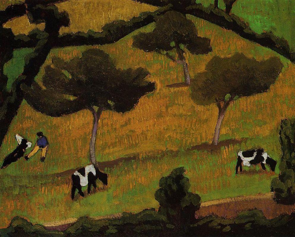 Cows in a Meadow - Roger de La Fresnaye