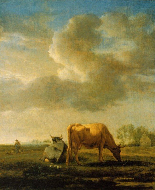 Cows on a Meadow - Adriaen van de Velde