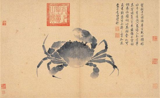 Crab (Sketches from Life) - Shen Zhou