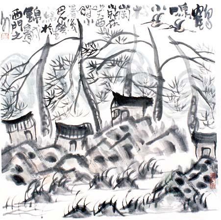 Cranes Crying in the Pine Grove - Li Huasheng
