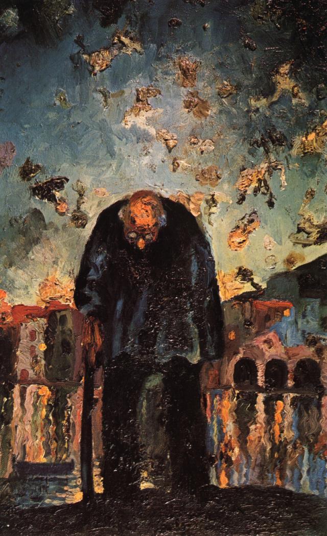 Crepuscular Old Man - Salvador Dali