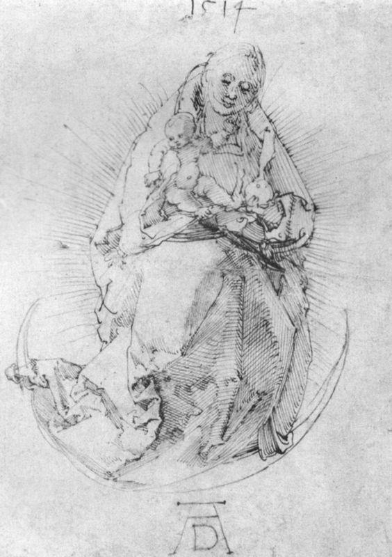 Crescent Madonna - Albrecht Durer