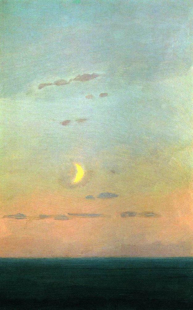 Crescent moon at sunset - Arkhip Kuindzhi
