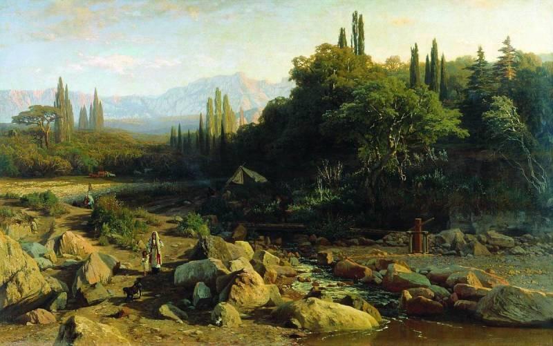 Crimea. Landscape with a river. - Volodymyr Orlovsky