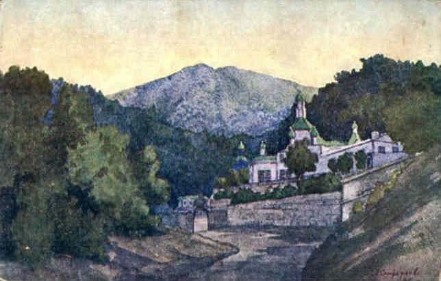 Crimea. Monastery of St. Cosmas and St.Damian. - Anna Ostroumova-Lebedeva