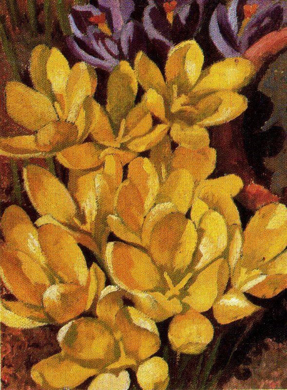 Crocuses - Stanley Spencer