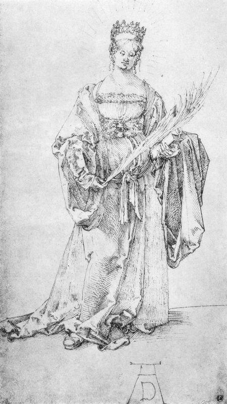 Crowned Holy Martyr - Albrecht Durer