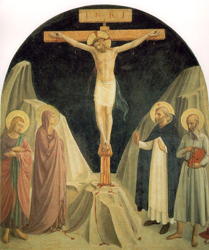 Crucified Christ with Saint John the Evangelist - Fra Angelico