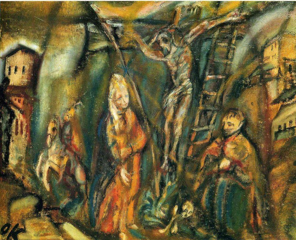 Crucifixion (Golgotha) - Oskar Kokoschka