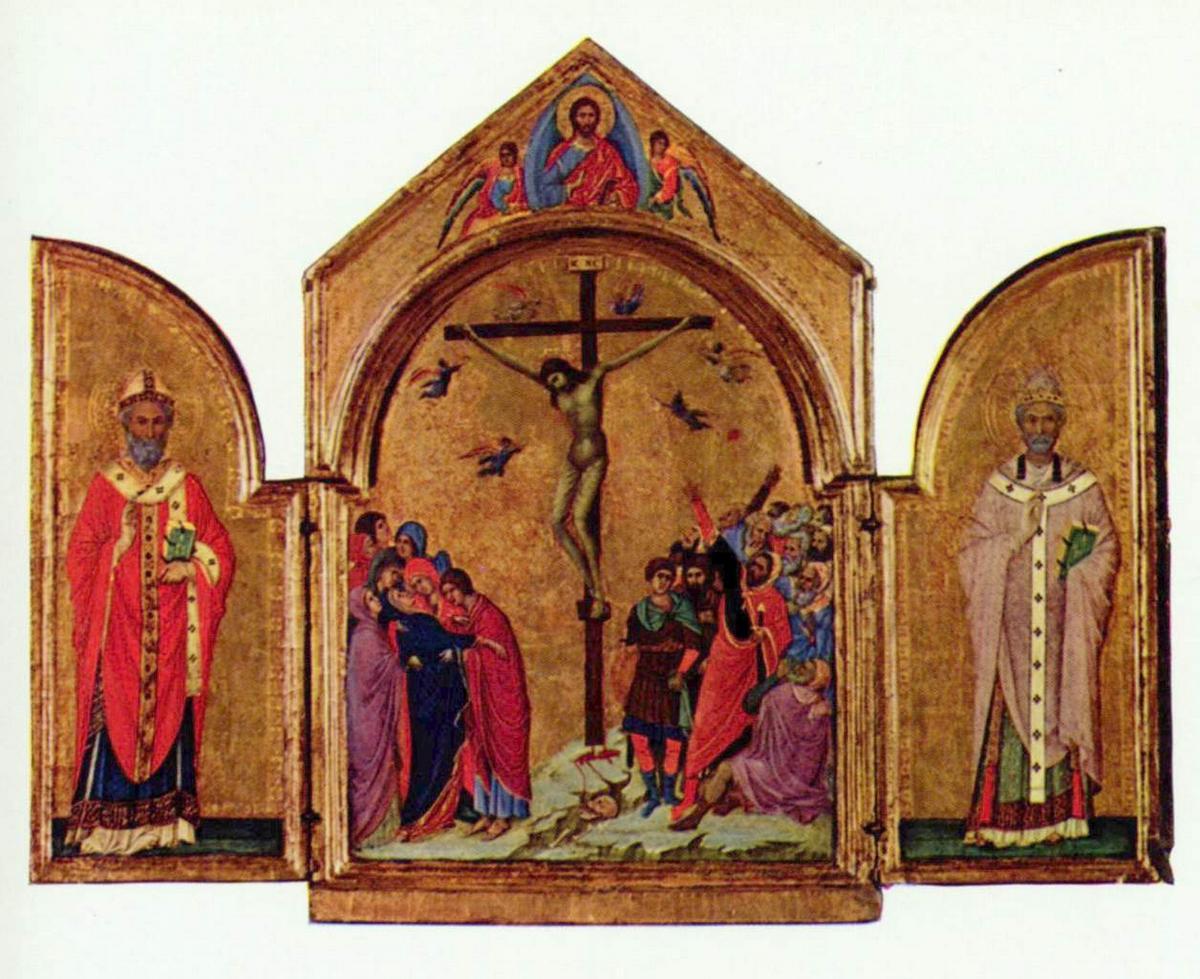 Crucifixion triptych - Duccio