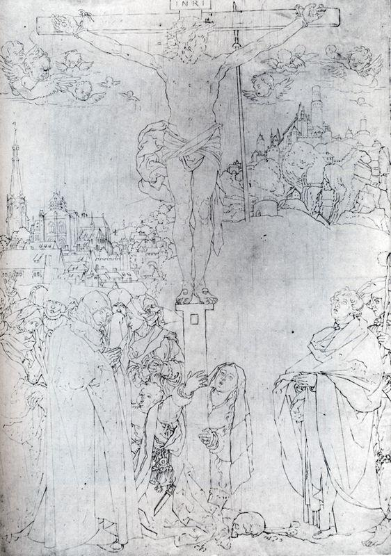Crucifixion With Many Figures - Albrecht Durer