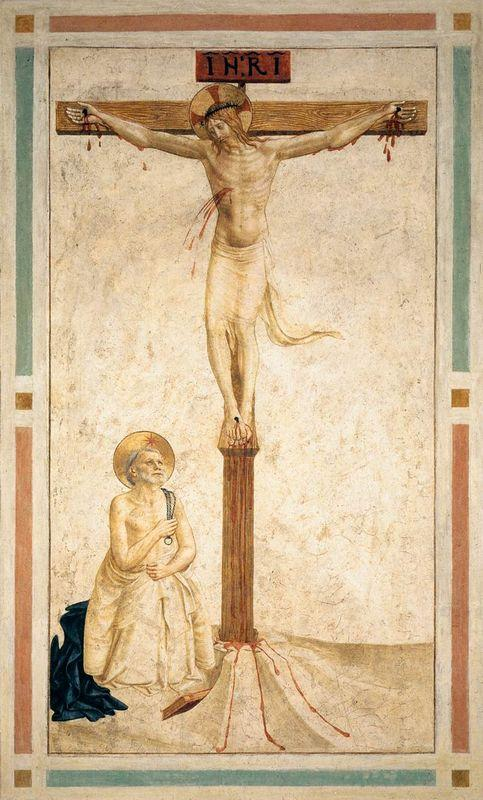 Crucifixion with St. Dominic Flagellating Himself  - Fra Angelico