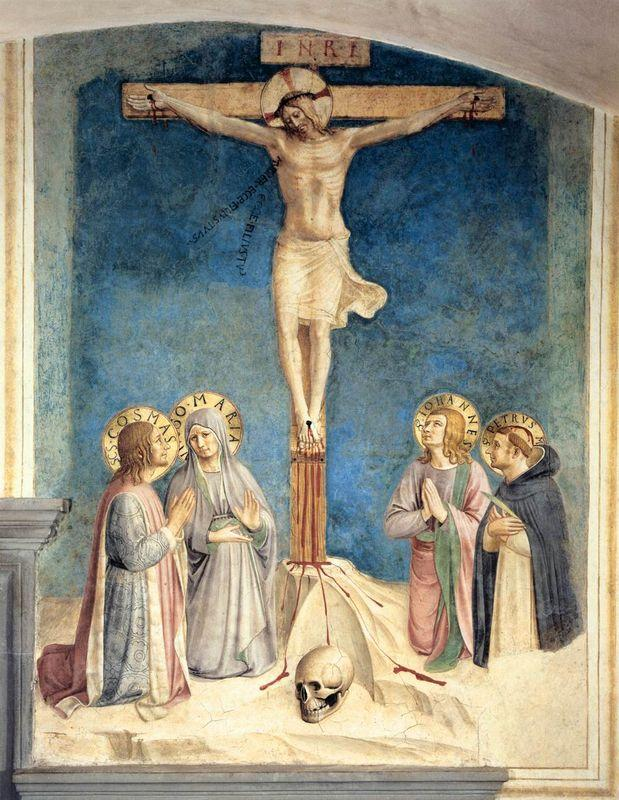 Crucifixion with the Virgin and Sts. Cosmas, John the Evangelist and Peter Martyr - Fra Angelico
