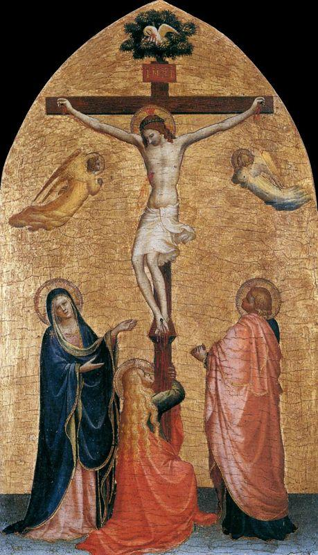 Crucifixion with the Virgin, John the Evangelist, and Mary Magdelene - Fra Angelico